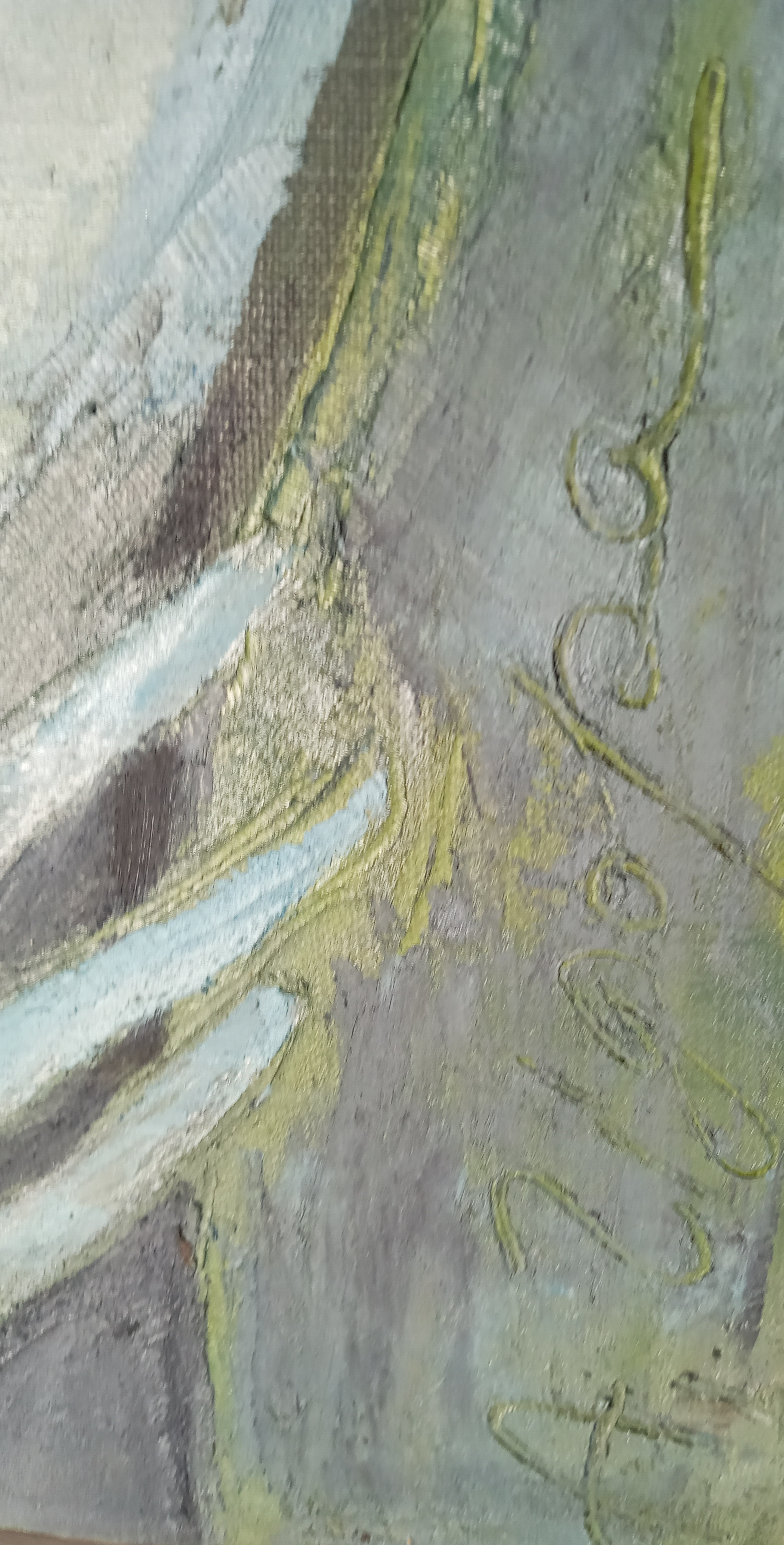 Улыбаясь синева 70-50 см., холст, масло  2005 год  - 1