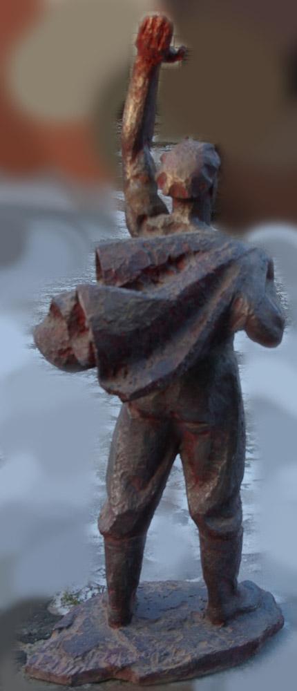 Скульптура Рабочий, материал метал, высота 125 см., ширина 50 см., длина 50 см. - 2