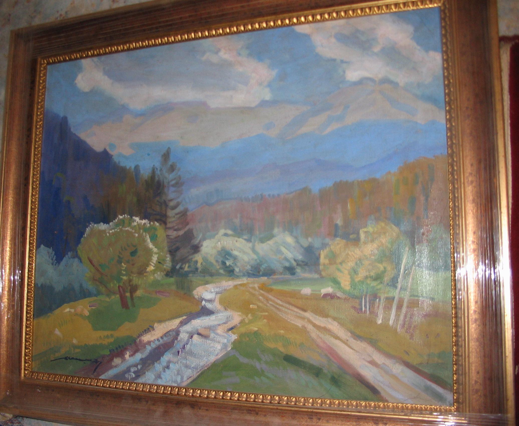 Осенний пейзаж 60-70 см., холст, масло  - 1