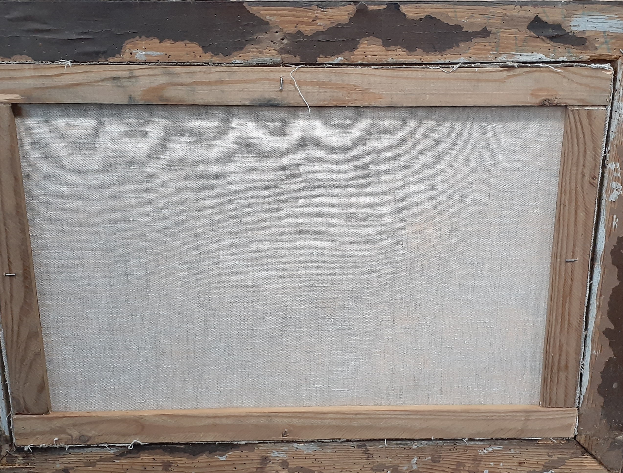 Натюрморт с салом, столичкой, рублем 40-60 см., холст, масло 1960-е 500 - 3
