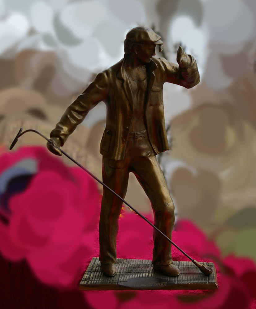 Скульптура Сталевар, материал бронза, высота 39 см., ширина 21 см., длина 9 см., 3 кг.,  - 1