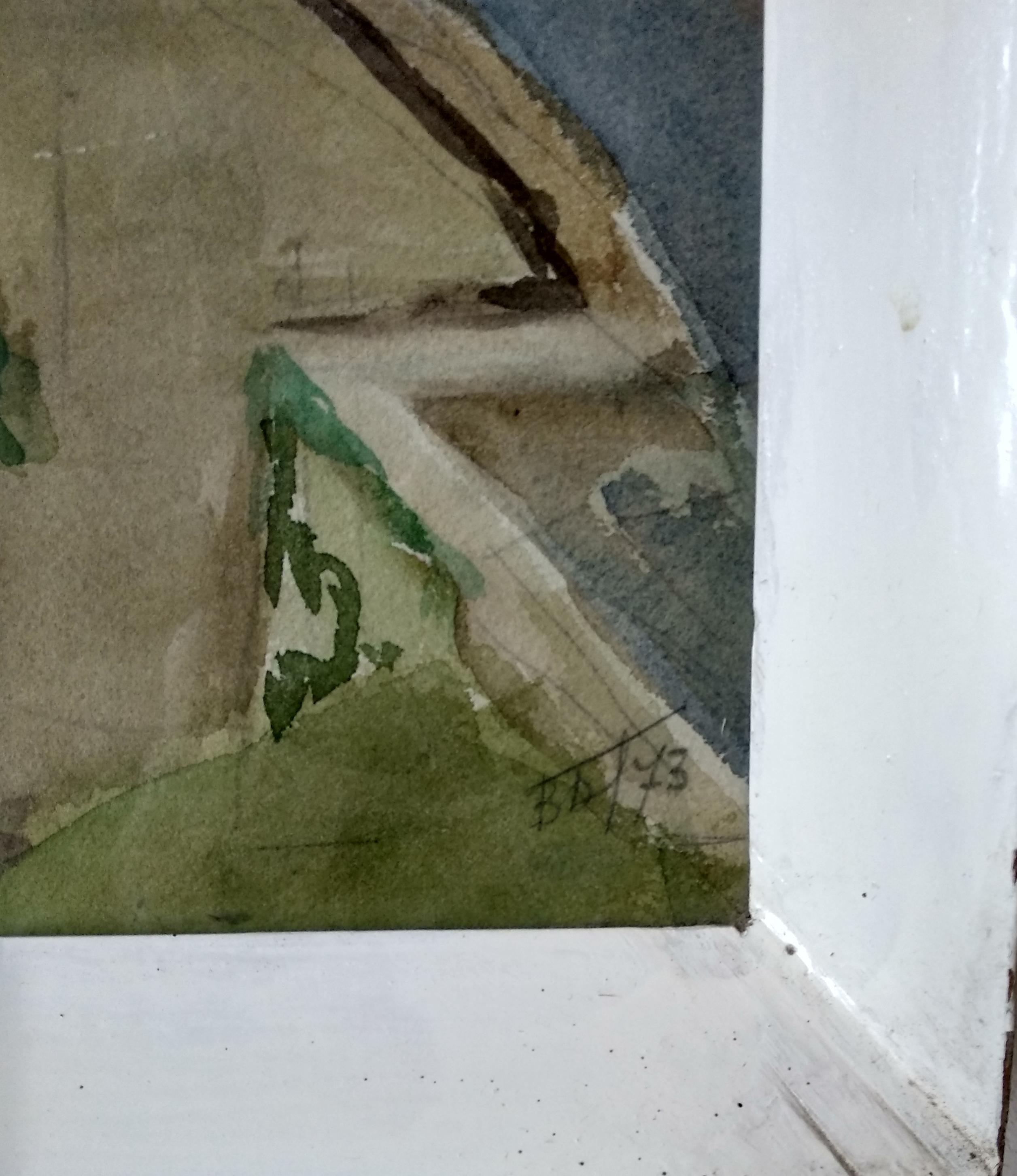 Каменец-Подольская старая крепость 51-69 см., бумага, акварель - 2