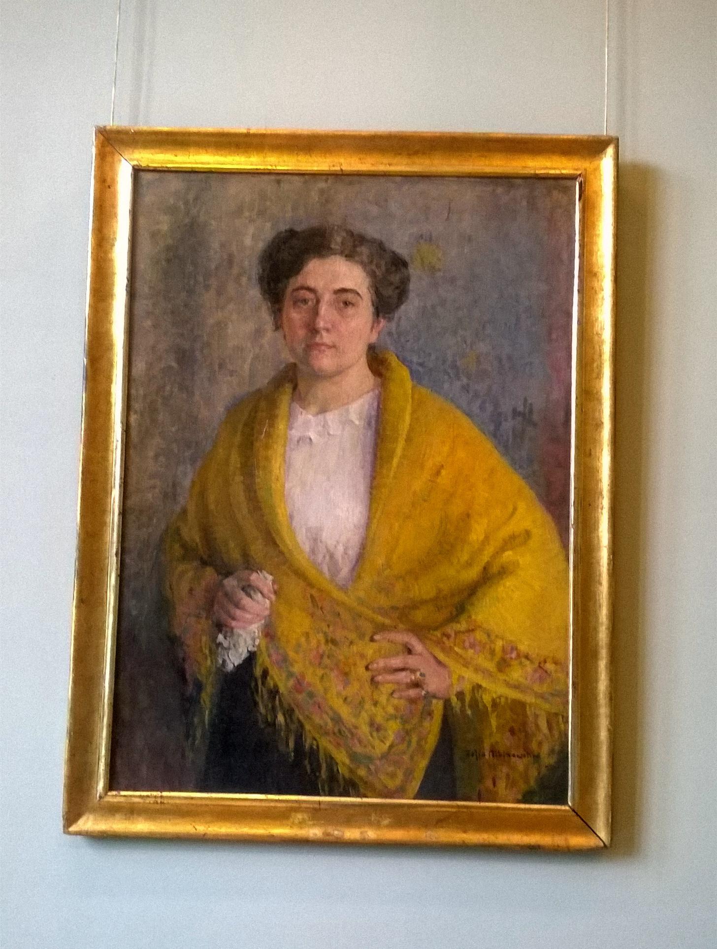 Автопортрет 1913. Холст, масло. - 3