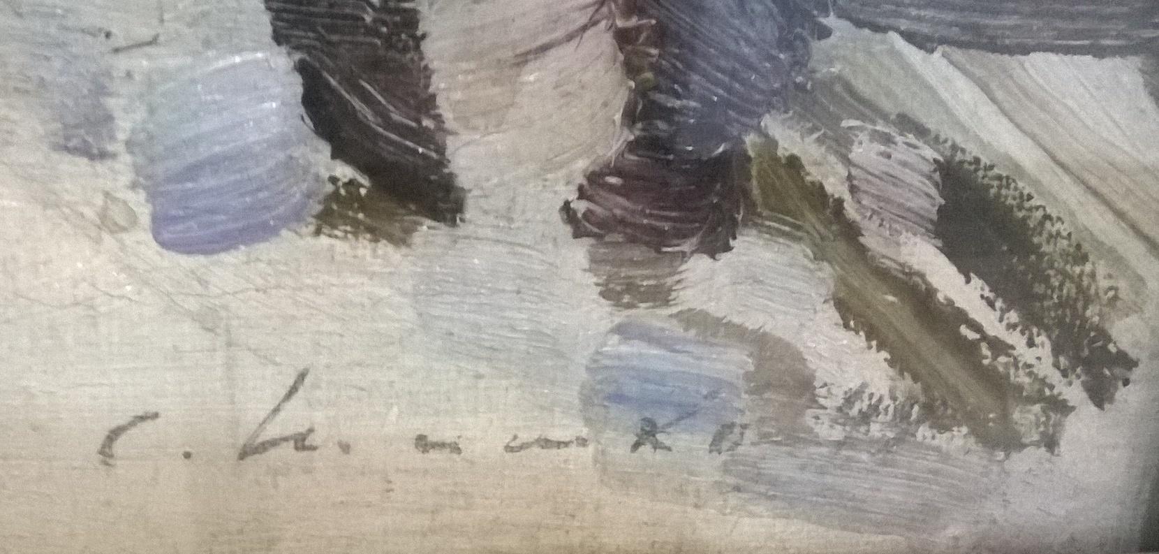 Зимний фонтан 1949. Холст, масло - 2